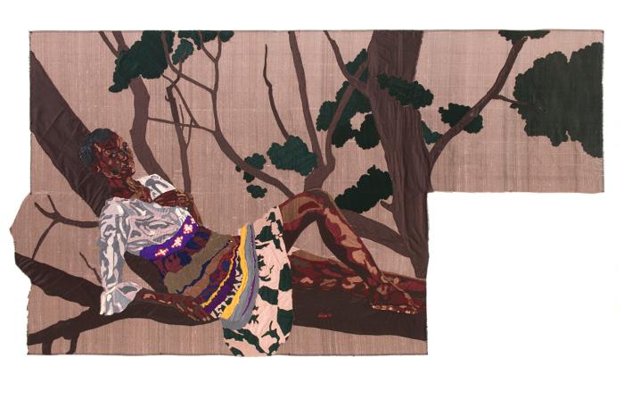 sweet dreams, silk tapestry, 112x206cm